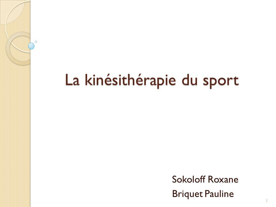 La kinésithérapie du sport