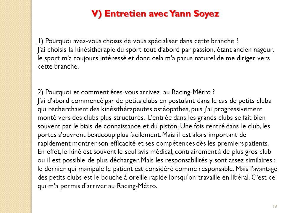 V) Entretien avec Yann Soyez