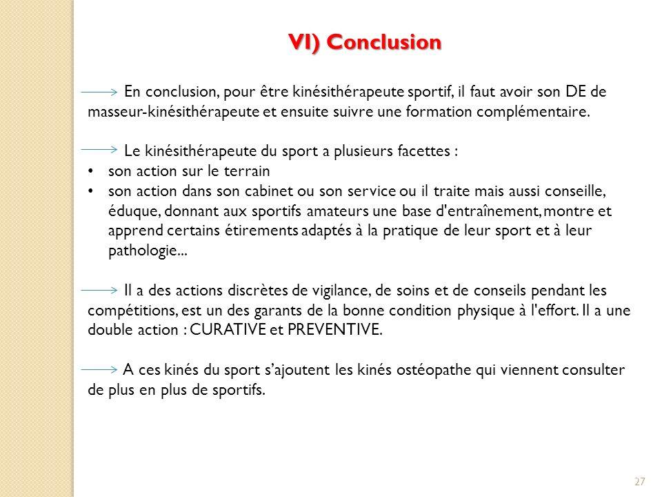 VI) Conclusion