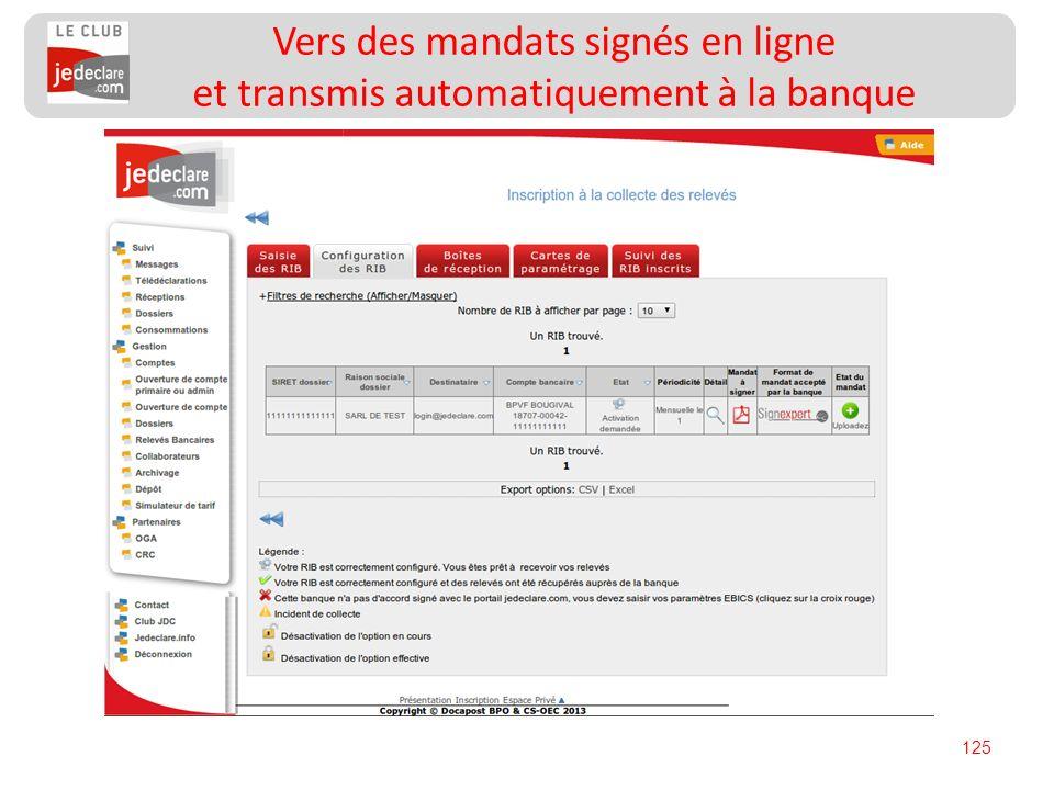 Vers des mandats signés en ligne et transmis automatiquement à la banque