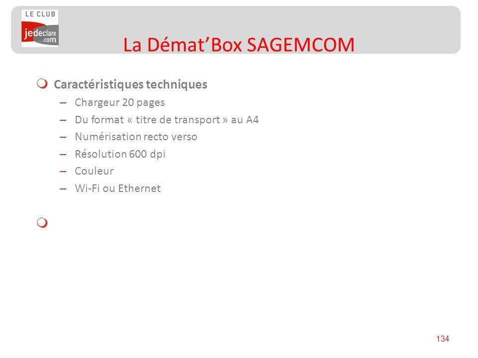 La Démat'Box SAGEMCOM Caractéristiques techniques Chargeur 20 pages