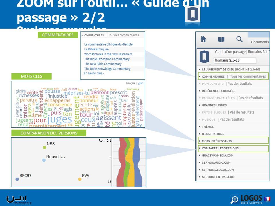 ZOOM sur l'outil… « Guide d'un passage » 2/2 Quelques exemples