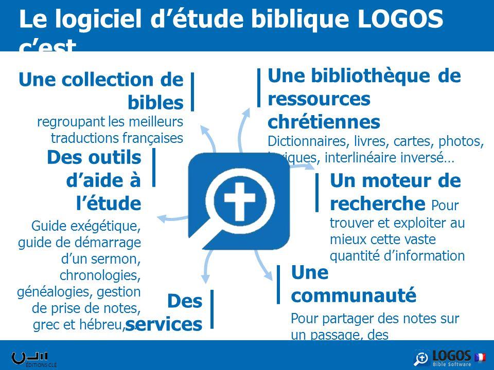 Le logiciel d'étude biblique LOGOS c'est ….