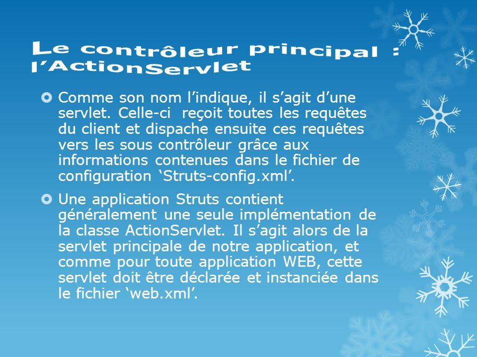 Le contrôleur principal : l'ActionServlet