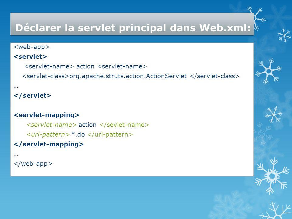 Déclarer la servlet principal dans Web.xml:
