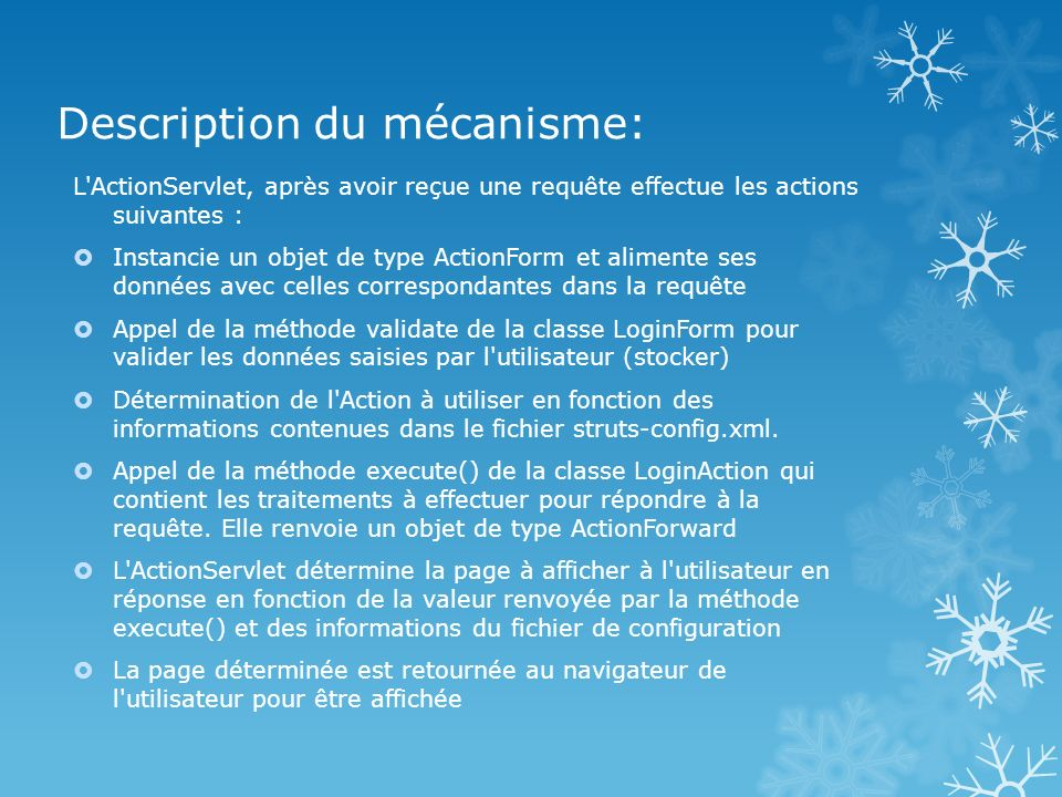 Description du mécanisme: