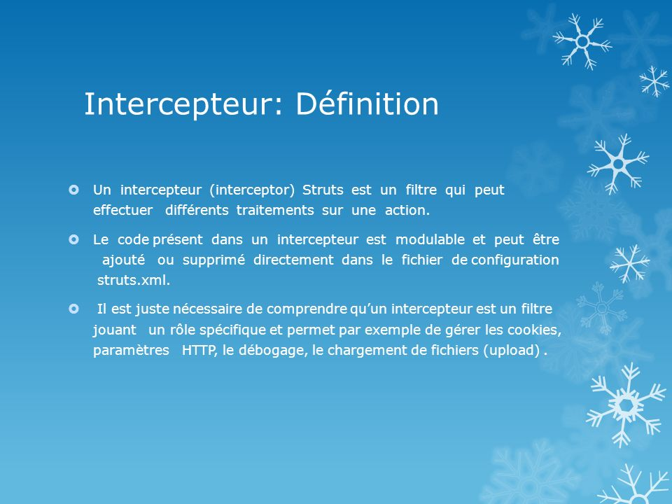 Intercepteur: Définition