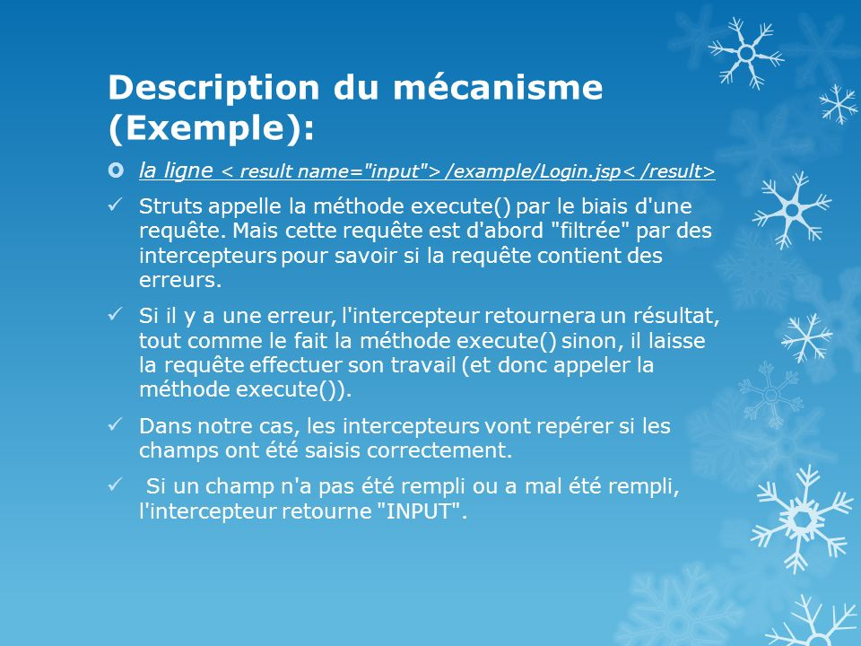 Description du mécanisme (Exemple):