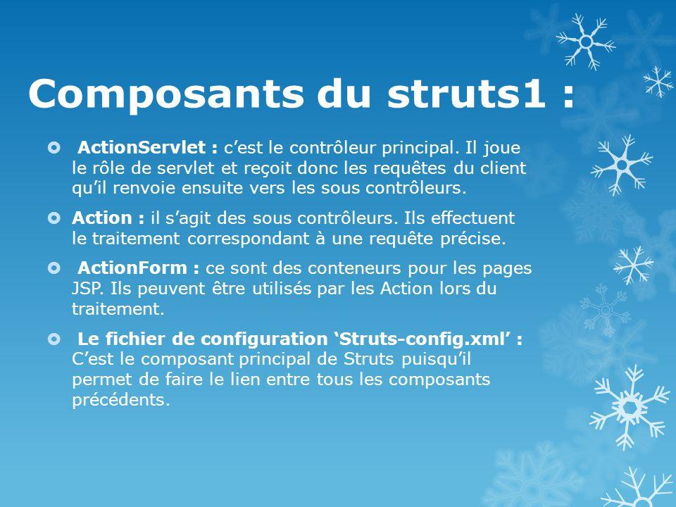 Composants du struts1 :