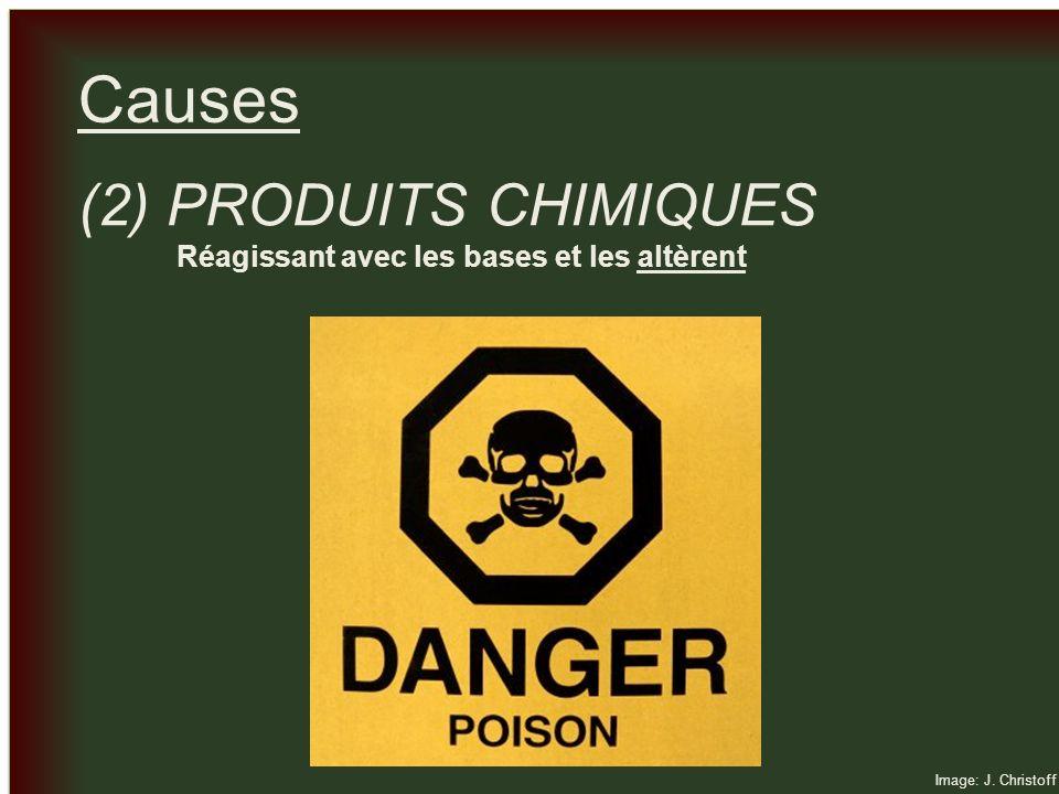 Causes (2) PRODUITS CHIMIQUES