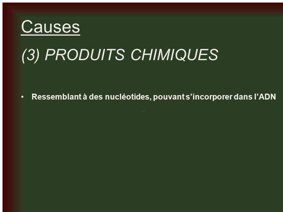 Causes (3) PRODUITS CHIMIQUES
