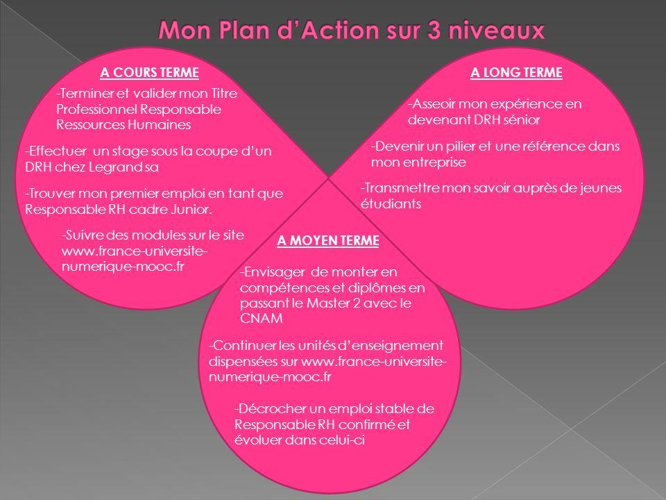 Mon Plan d'Action sur 3 niveaux