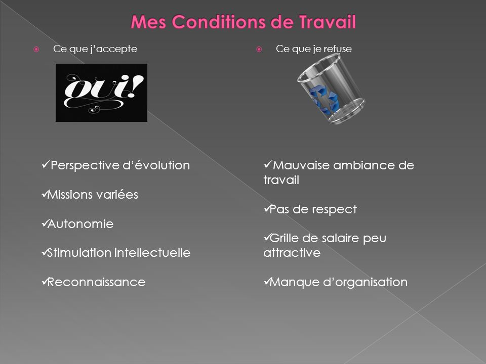 Mes Conditions de Travail