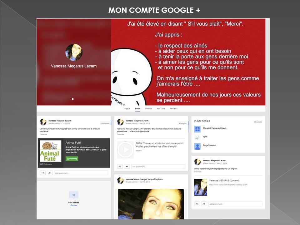 MON COMPTE GOOGLE +