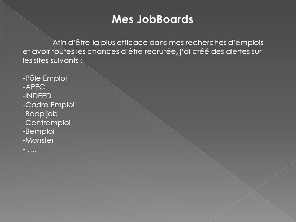 Mes JobBoards