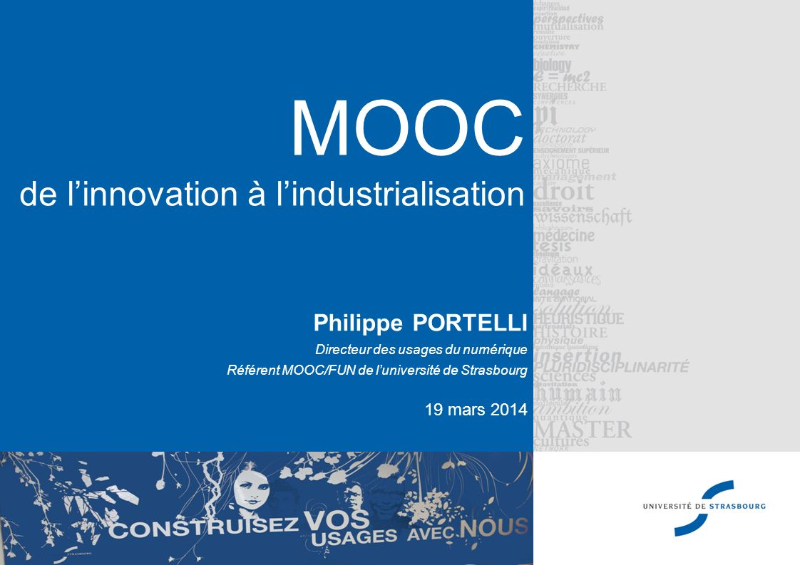MOOC de l'innovation à l'industrialisation