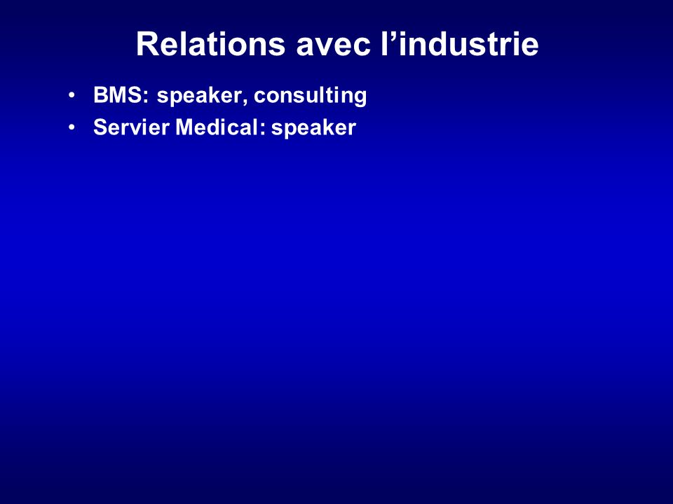Relations avec l'industrie