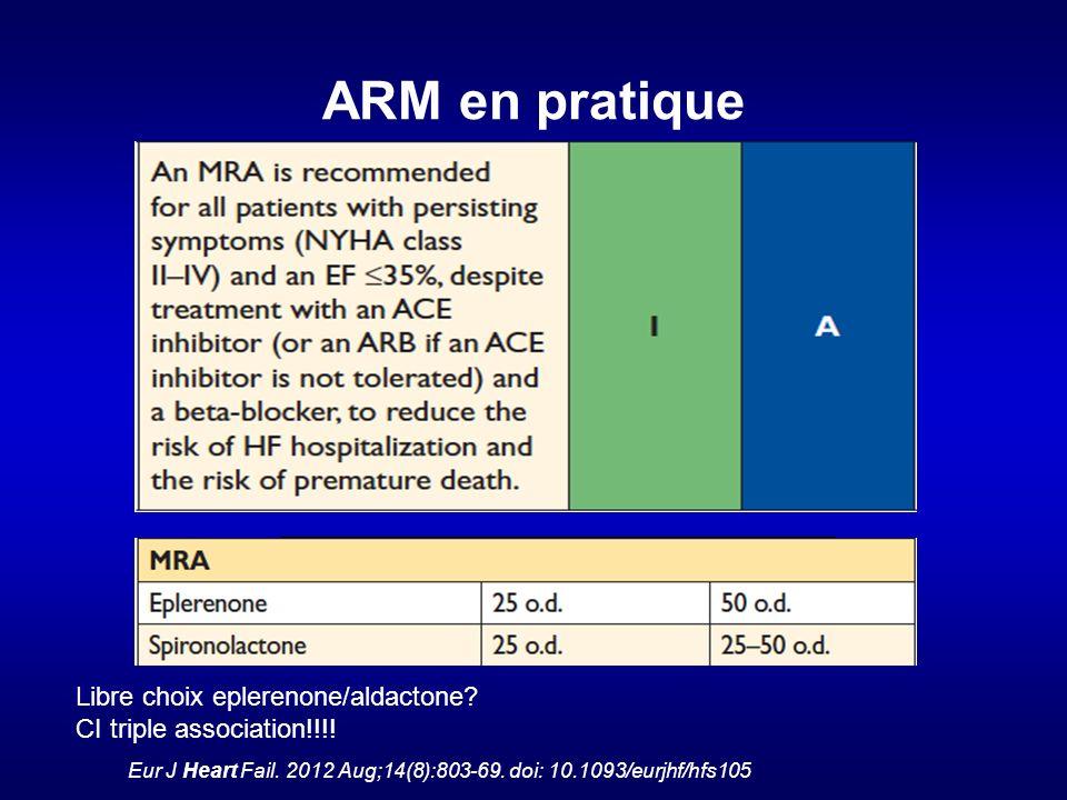 ARM en pratique Libre choix eplerenone/aldactone