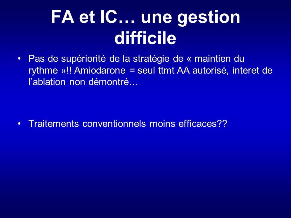 FA et IC… une gestion difficile