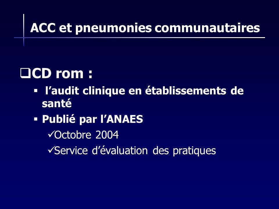 ACC et pneumonies communautaires