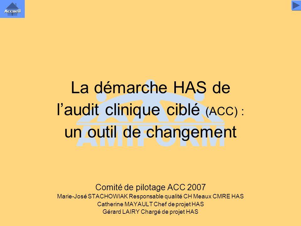 l'audit clinique ciblé (ACC) : un outil de changement