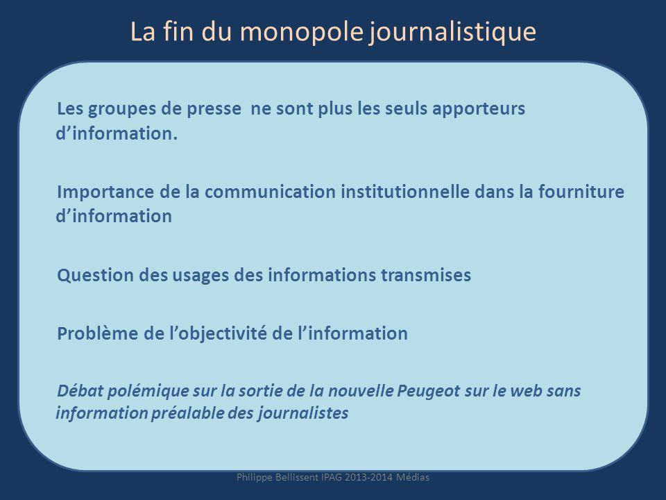 La fin du monopole journalistique