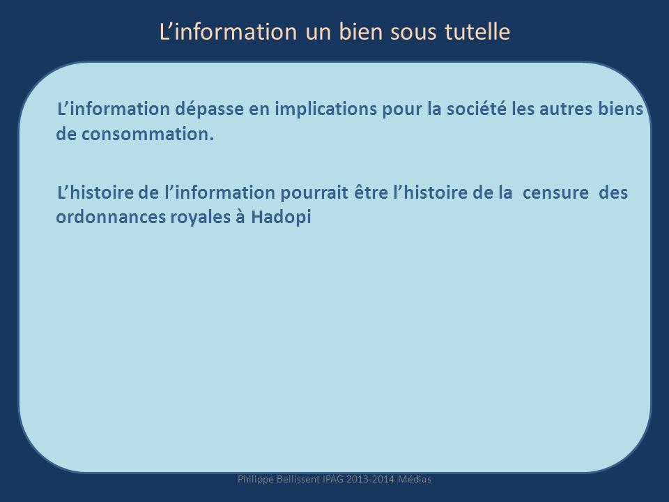 L'information un bien sous tutelle