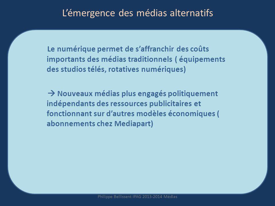 L'émergence des médias alternatifs