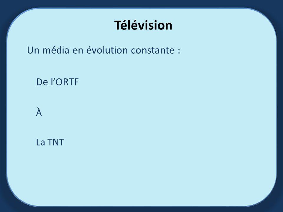 Un média en évolution constante : De l'ORTF À La TNT