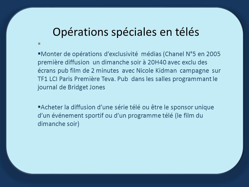 Opérations spéciales en télés