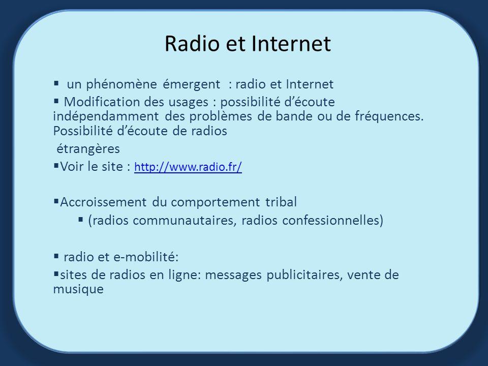 Radio et Internet un phénomène émergent : radio et Internet