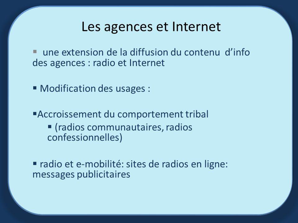 Les agences et Internet