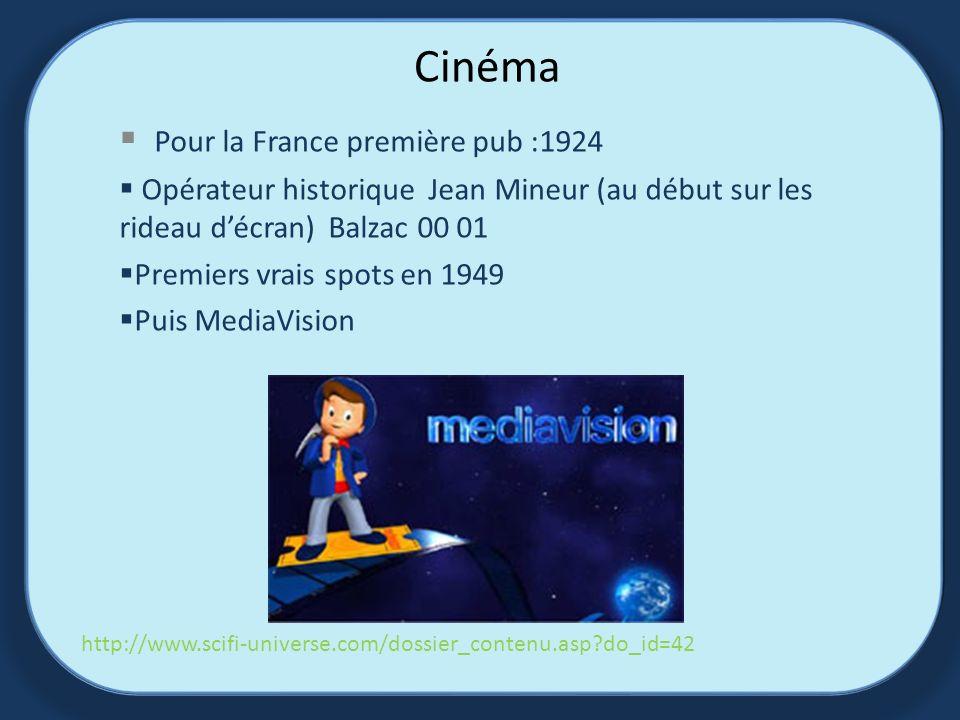 Cinéma Pour la France première pub :1924