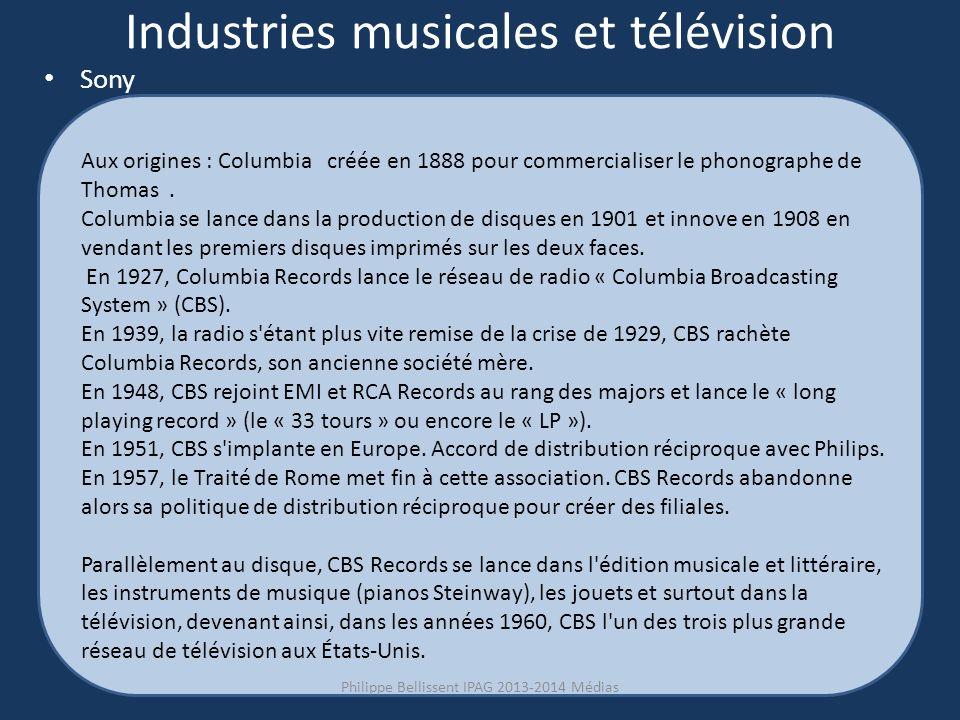 Industries musicales et télévision