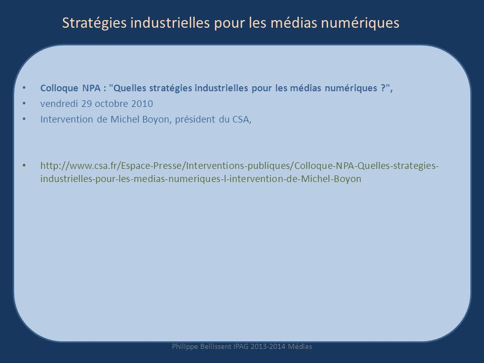 Stratégies industrielles pour les médias numériques