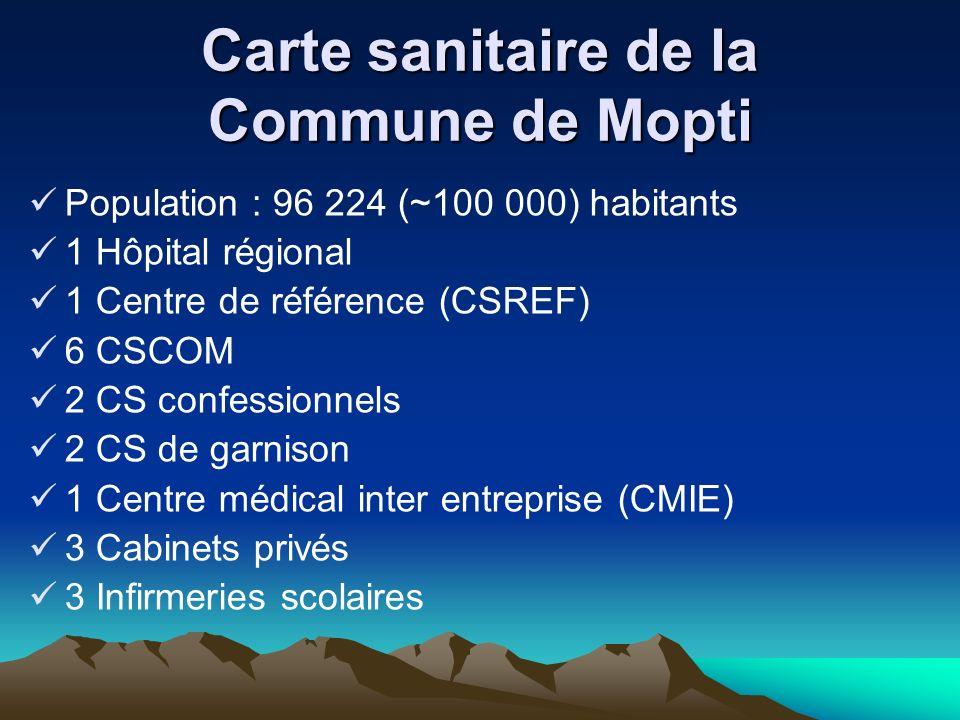 Carte sanitaire de la Commune de Mopti