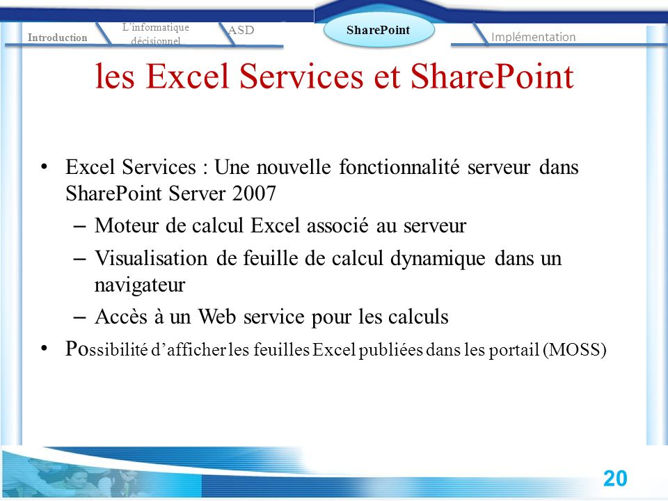 les Excel Services et SharePoint