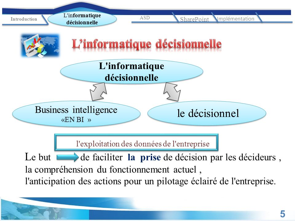L'informatique décisionnelle