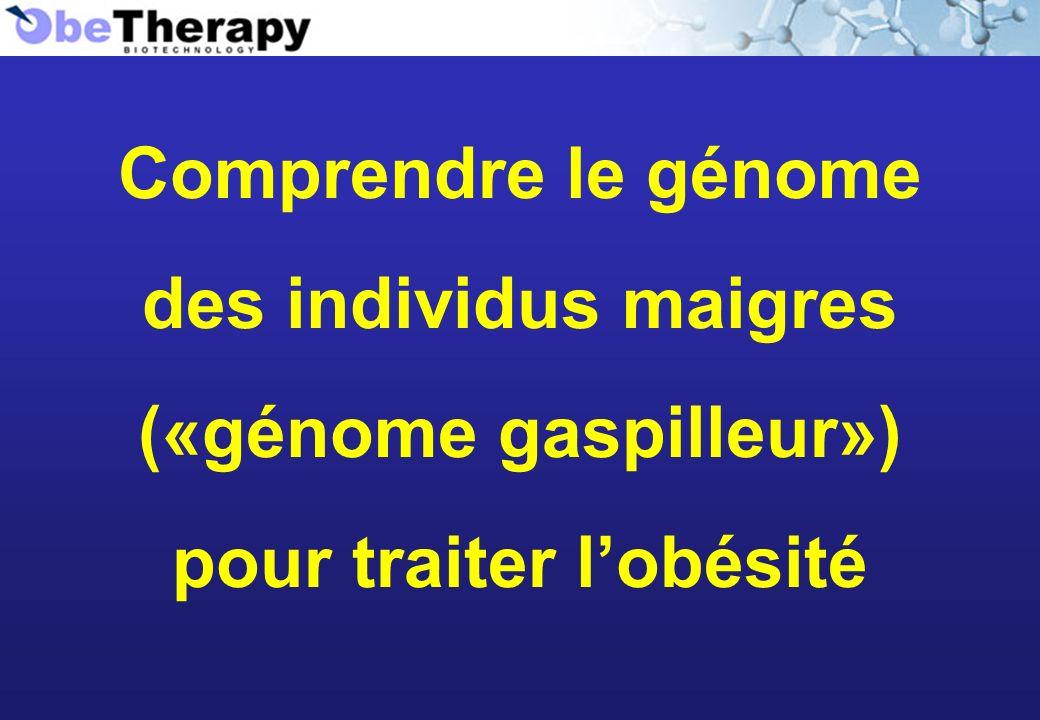 («génome gaspilleur») pour traiter l'obésité