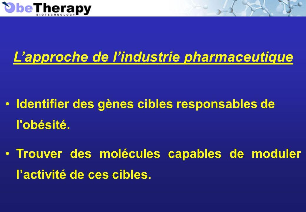 L'approche de l'industrie pharmaceutique