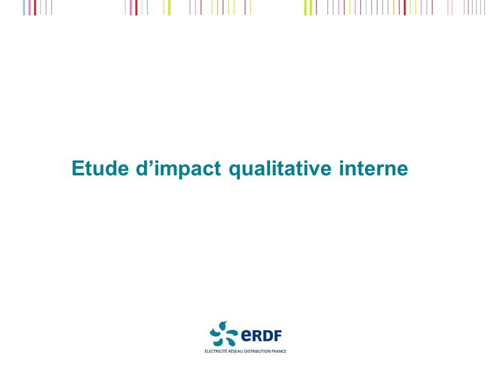 Etude d'impact qualitative interne