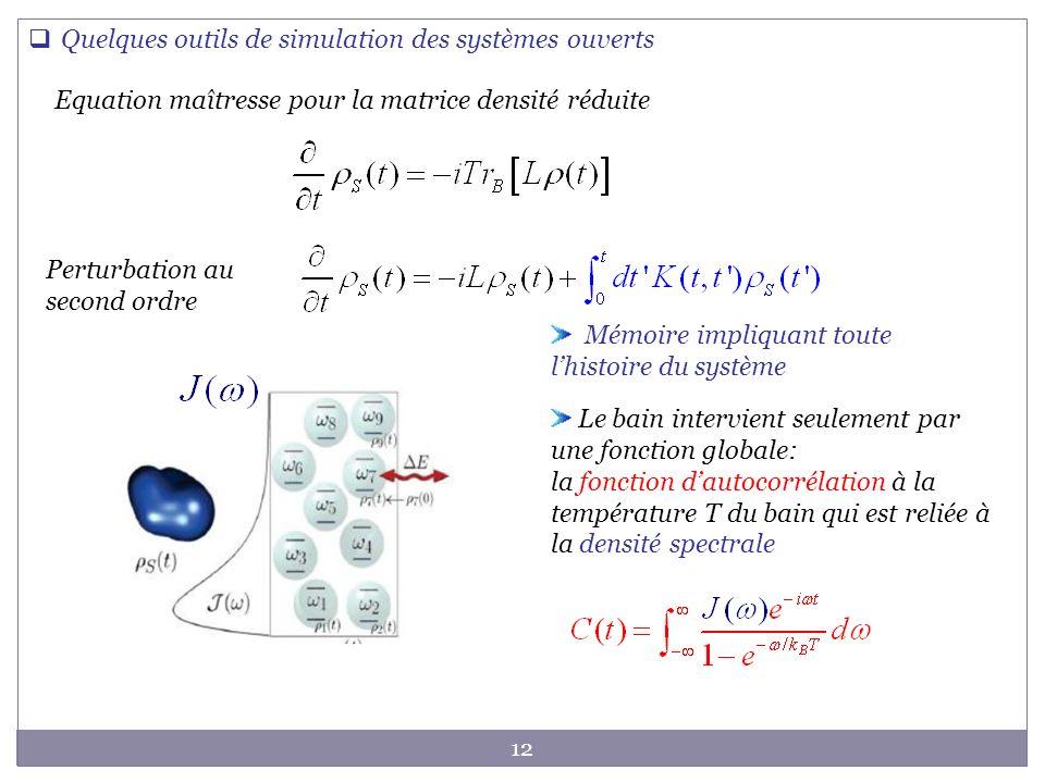 Quelques outils de simulation des systèmes ouverts