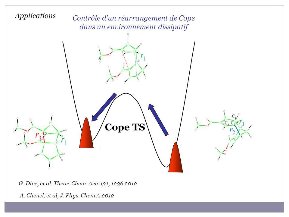 Contrôle d'un réarrangement de Cope dans un environnement dissipatif