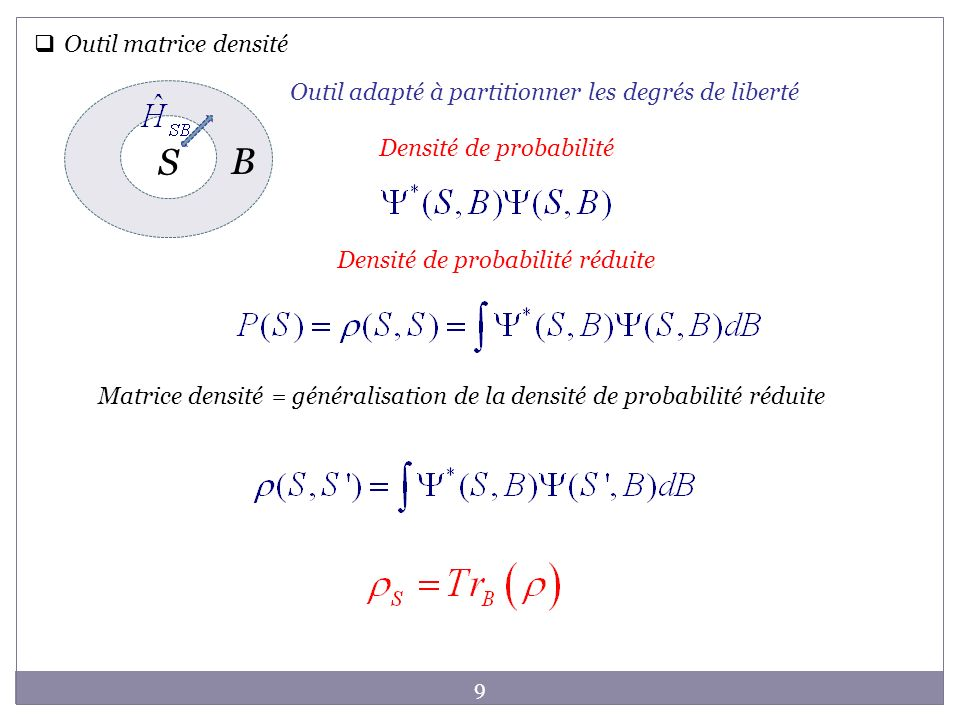 S B Outil matrice densité