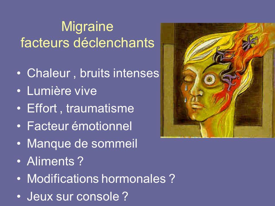 Migraine facteurs déclenchants