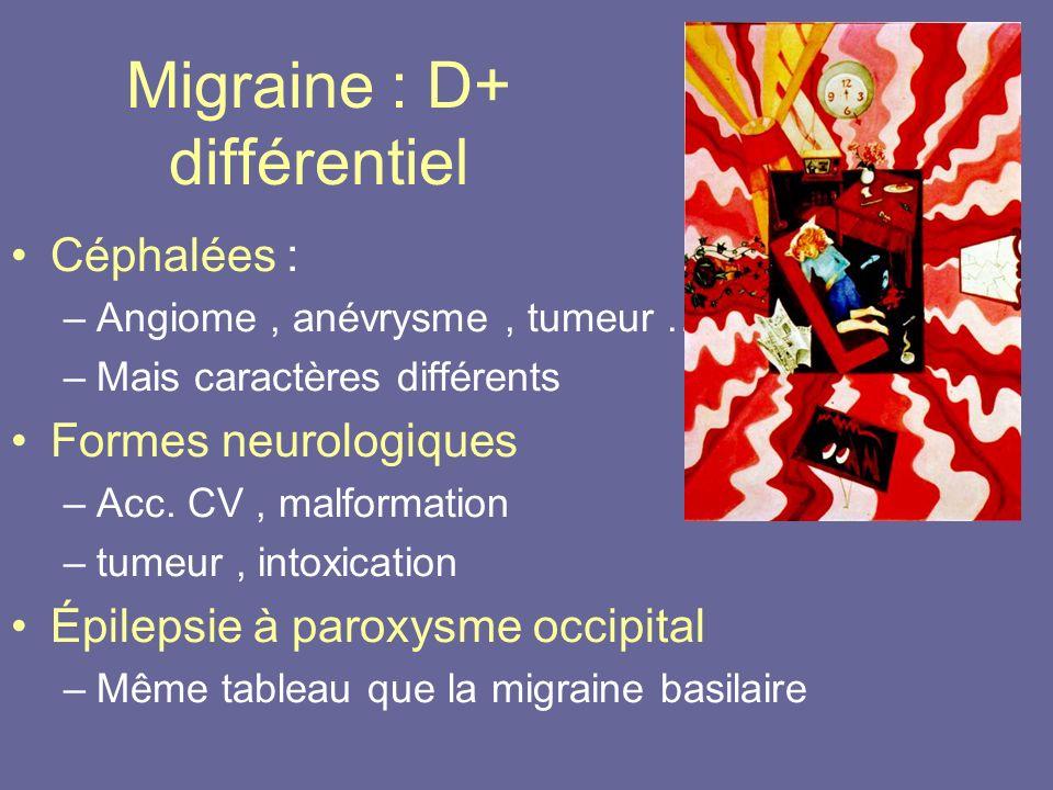 Migraine : D+ différentiel