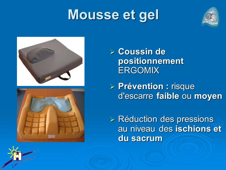 Mousse et gel Coussin de positionnement ERGOMIX