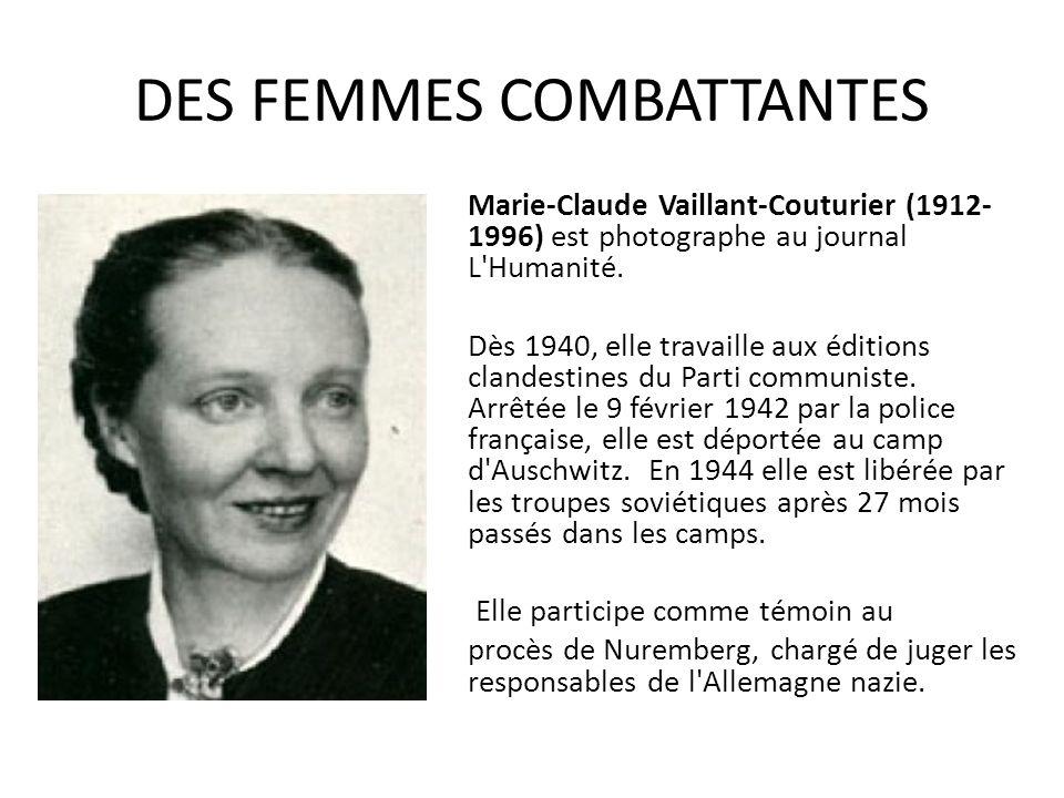 DES FEMMES COMBATTANTES