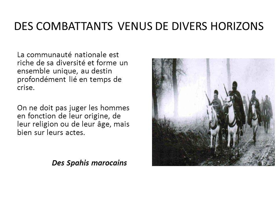 DES COMBATTANTS VENUS DE DIVERS HORIZONS