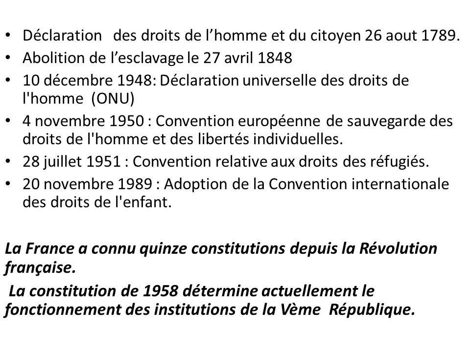 La France a connu quinze constitutions depuis la Révolution française.